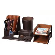 Brown Leather Office Accessories
