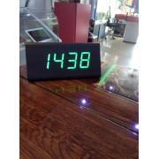 Triangular Green Led Table  Clock