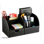 Leather Desk Organizer for Stationery