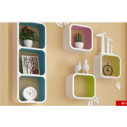 6 Set Square Cube Shelves