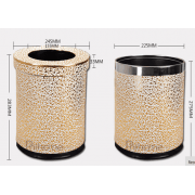 Leather Office Dustbin