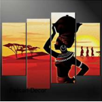 African Woman  Wall Painting