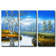 Water Bodies Wall Painting