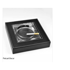Glass Leather Ashtray