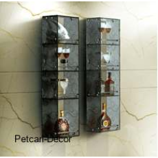 Four shelf Glass Wall Cabinet