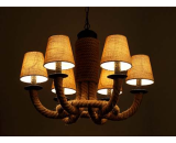 Hemp Rope Chandelier Light
