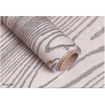 White Wood Grain Pattern Wallpaper