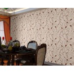 Flowered Brown Wallpaper