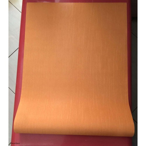 PVC Embossed Plain Orange Wallpaper