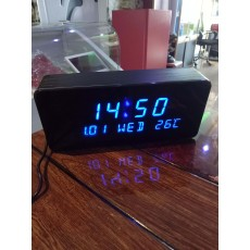 Blue Led Rectangular Table Clock