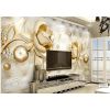 Gold Floral Wall Mural