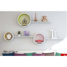 Round Wall Shelves - Set of 3