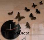 Acrylic Round Butterfly Clock